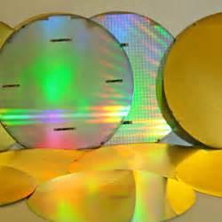 ویفر سیلیکونی نوع(P)مناسب برای MEMS و ترانزیستور  قطر 4 اینچ با لایه طلا |